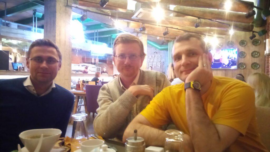 Павел Рабунец, Валерий Казарин, Константин Новиков