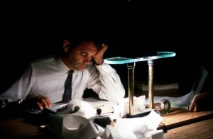 Businessman-working-late