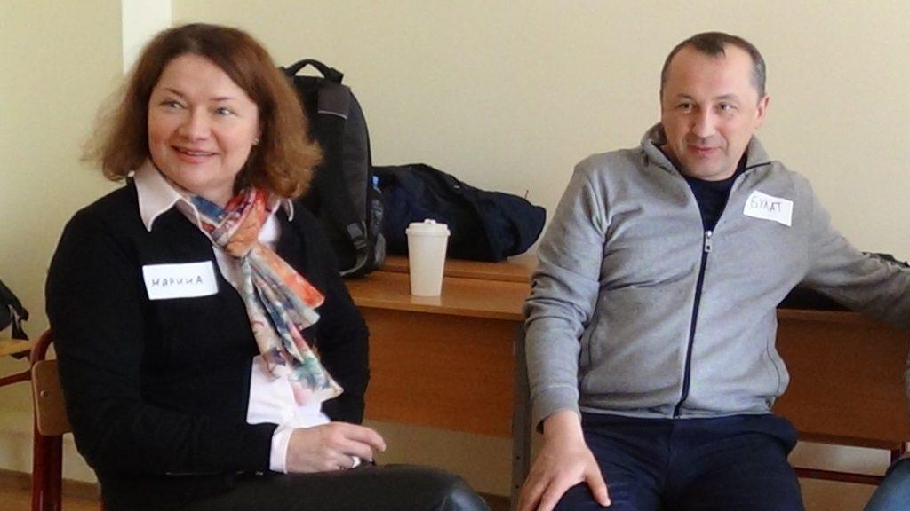 Марина Рындина оказалась на встрече случайно - она вела занятия в той же аудитории до начала нашей встречи. Булат Валиуллин приехал на встречу из другого города